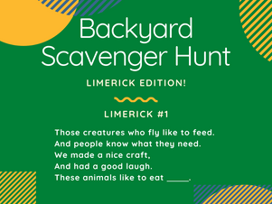 Backyard Scavenger Hunt: Limerick Edition!