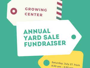 The Annual Yard Sale Benefit is July 27!