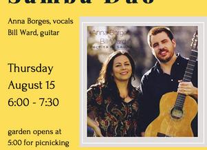 Summer Song Series: Receita de Samba Duo on August 15th!