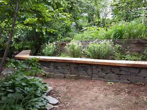 Gabion Wall Bench Completed