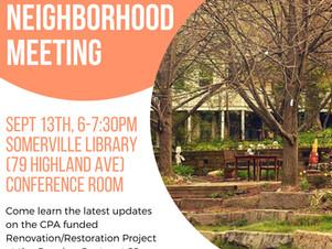 Growing Center Renovation Project Neighborhood Meeting