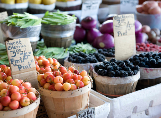 Plastic-Free July Challenge #16:  visit a local farm or farmer's market 🍒