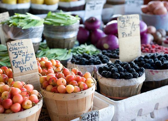 Farmers, Flowers & Prepackaged Foods
