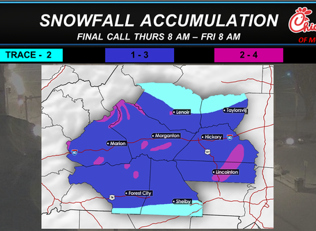 Winter Weather Final Forecast Update and Final Accumulation Forecast.