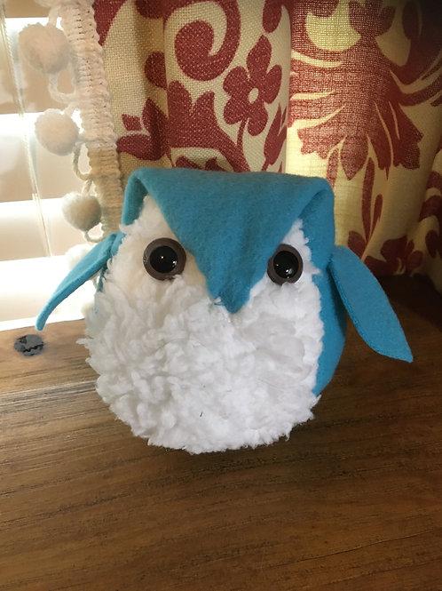 Hand Sewn Fuzzy Owl