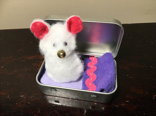 Hand Sewn Mouse In A Tin
