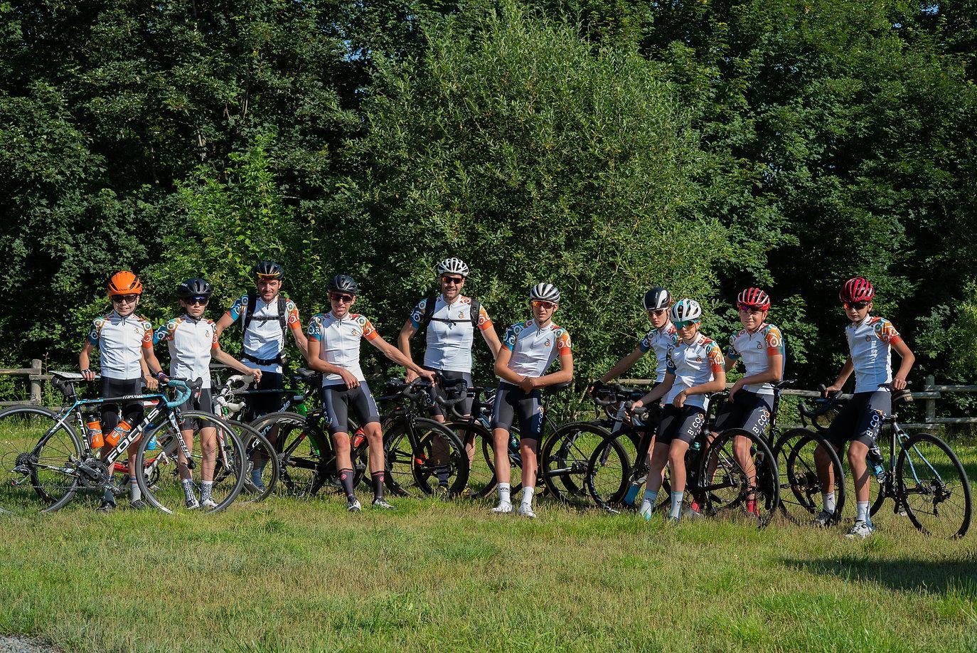 Stage entrainement cyclisme sur route b'coq academy