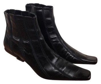 Valentine Italian Black Ankle Boots