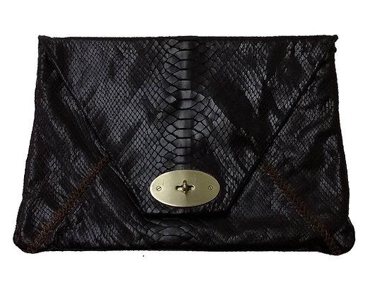 Carla Mancini Black Leather Bag