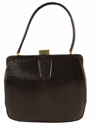 Tailored Woman ​Teiju Lizard Brown Kelly Purse