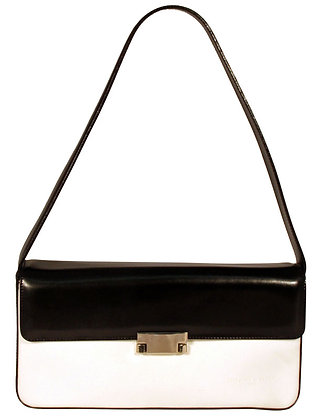 TIFFANY & FRED Paris Black and White Leather Purse
