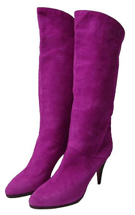 Bargif Magenta Suede Leather Boots