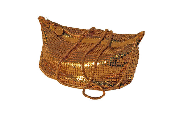 La Regale Gold Mesh Purse