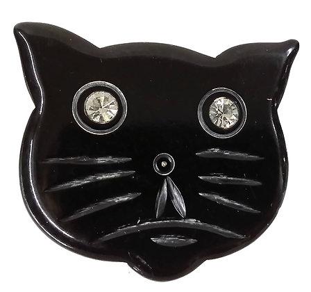 NYC Bakerlite Black Cat Brooch