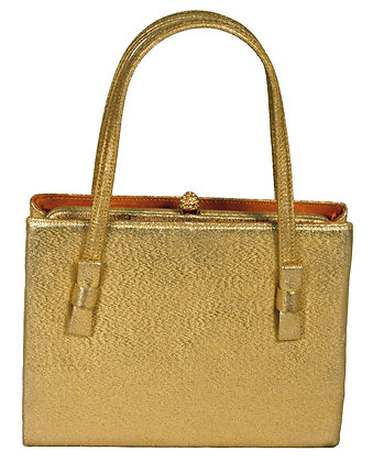 After Five Gold Lame Evening Purse
