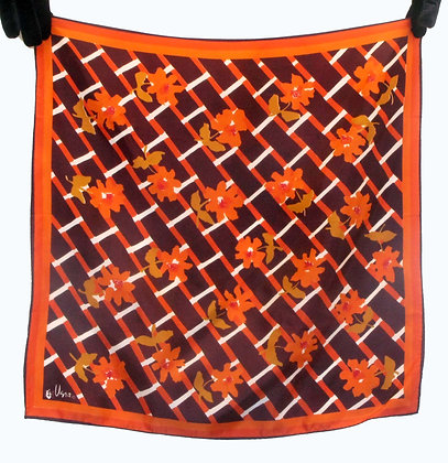 Vera Orange Brown Scarf