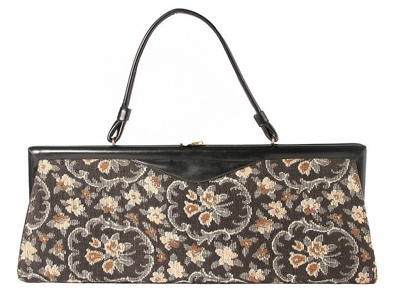 Black Tapestry Freight Train Kelly Purse​