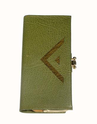 V Green Leather Wallet