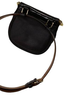 Fratelli Rosseti Black Suede Leather Belt Bag