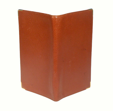 Brown Leather Business Card Folder
