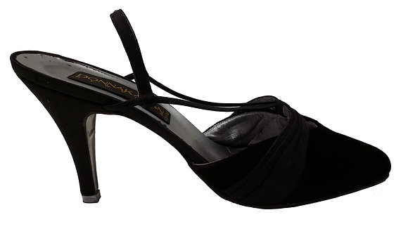 Donna Karen Velvet Brown Slingbacks