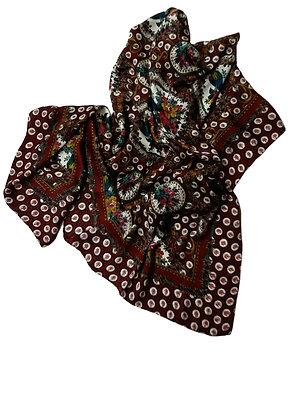 Saldarini Failletine Weave Silk Twill Scarf