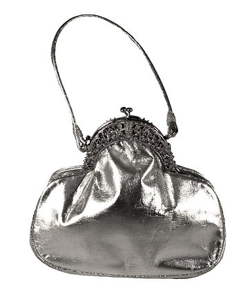 Rosenfeld Silver Leather Evening Purse