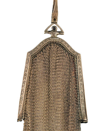 ND Silver Fine Mesh Dance Purse