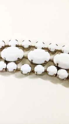 ND White Chain Beaded Belt