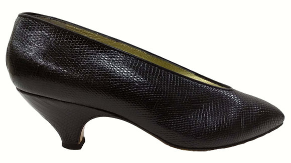 Walter Steiger Black Lizard Pumps