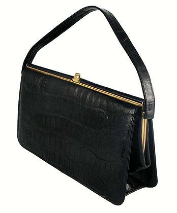 Sterling Black Alligator Bag