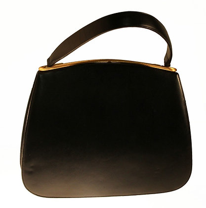 Dorian Textured Black Leather Bag