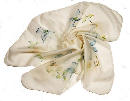 Cream Floral Scarf