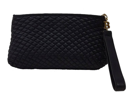 Bally Black Quilted Clutch