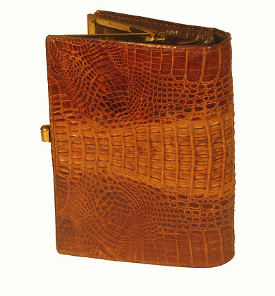 Genuine Brown Hornback Crocodile Wallet