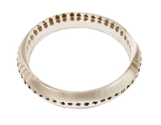 Vintage Clear Lucite Rhinestone Bracelet