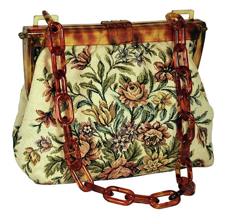 Walborg Floral Needlework Fabric Satchel