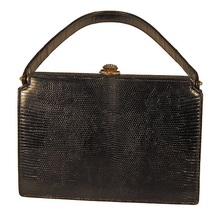 Koret Black Evening Lizard Purse