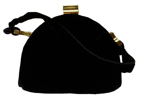Ingber Black Velvet Evening Bag