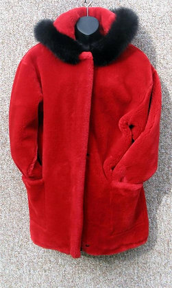 Lillie Rubin Red Fur Coat