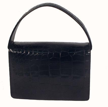 Equipe Black Crocodile Bag