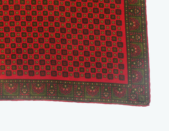 Red Green Grid Scarf