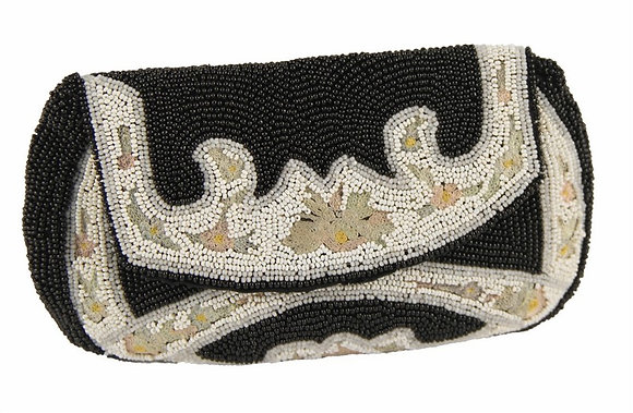 Hand Beaded Clutch Made in Belgium