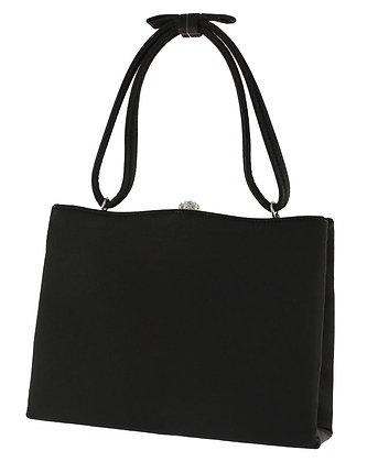 After Five Black Satin Evening Purse