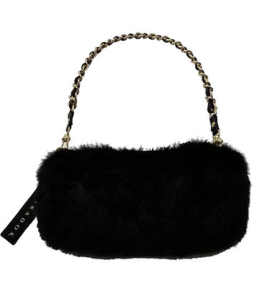 Paradox Black Genuine Fur Purse