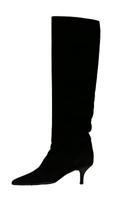 Gucci Black Tall  Suede Boots