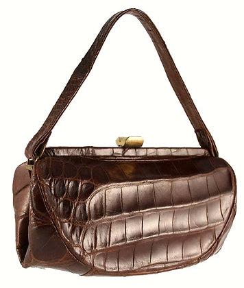 American Chocolate Brown Alligator Satchel
