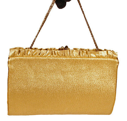 HL USA Gold Lame Evening Clutch