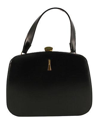 Dofan France Black Leather Kelly Purse