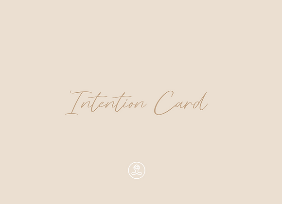 Intention Card 5 Pack